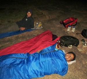Packed in the sleeping bag